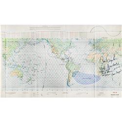 STS-42 Signed Flight Chart
