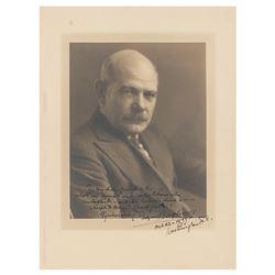 Gutzon Borglum Signed Photograph