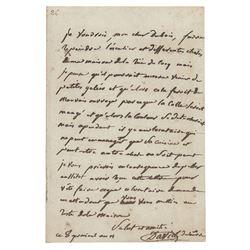 Jacques-Louis David Autograph Letter Signed