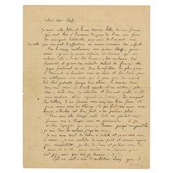 Paul Gauguin Autograph Letter Signed