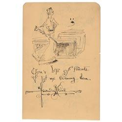 Franz Kline Signed Sketches