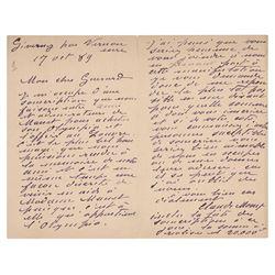 Claude Monet Autograph Letter Signed