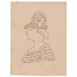 Giorgio Morandi Signed Sketch
