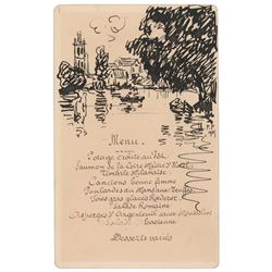 Francis Picabia Signed Sketch
