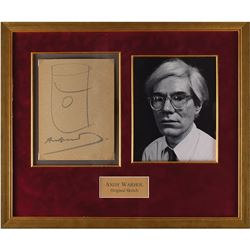 Andy Warhol Signed Sketch