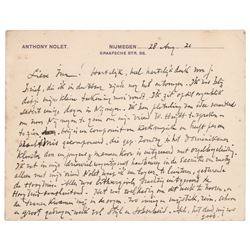Jan Toorop Autograph Letter Signed