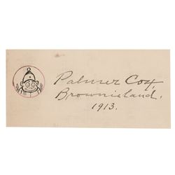 Palmer Cox Signed Sketch