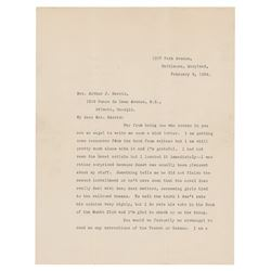 F. Scott Fitzgerald Typed Letter Signed