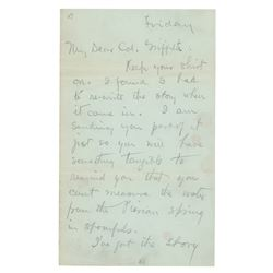 O. Henry Autograph Letter Signed