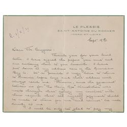 Eugene O'Neill Autograph Letter Signed