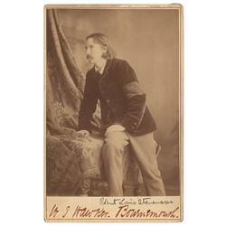 Robert Louis Stevenson Signed Photograph