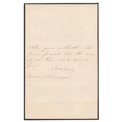 Harriet Beecher Stowe Autograph Quotation Signed