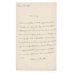 Théodore de Banville Autograph Letter Signed