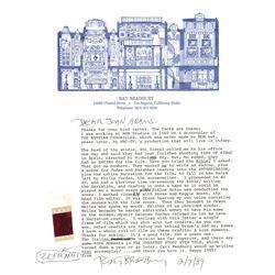 Ray Bradbury Typed Letter Signed