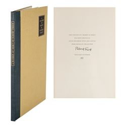 Robert Frost Signed Book