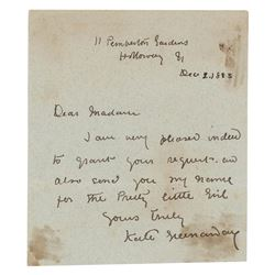 Kate Greenaway Autograph Letter Signed