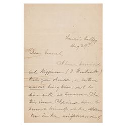 Julia Ward Howe Autograph Letter Signed