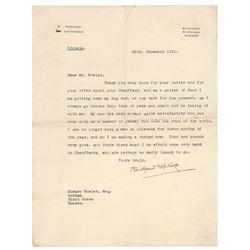 Rudyard Kipling Typed Letter Signed