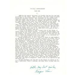 Harper Lee Signed Souvenir Typescript
