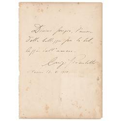 Luigi Pirandello Autograph Quote Signed
