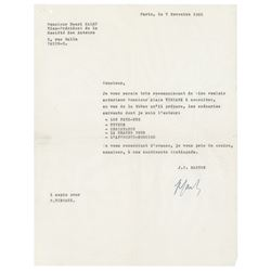 Jean-Paul Sartre Typed Letter Signed