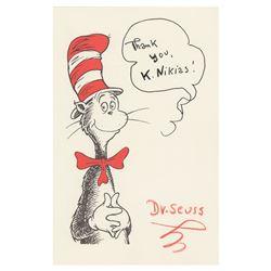 Dr. Seuss Signed Print