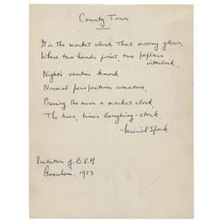 Muriel Spark Handwritten Poem