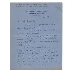 Evelyn Waugh Autograph Letter Signed