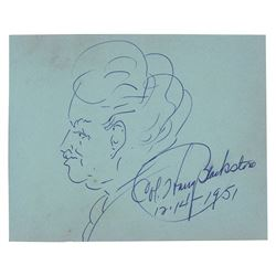 Harry Blackstone Signed Sketch