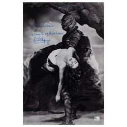 Creature From the Black Lagoon: Adams and Chapman Signed Photograph