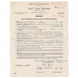 Bette Davis Document Signed