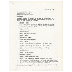 W. C. Fields Document Signed