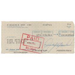 Judy Garland Signed Check