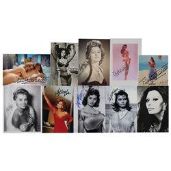Sophia Loren and Brigitte Bardot (10) Signed Photographs