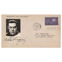 Bela Lugosi Signed Cover