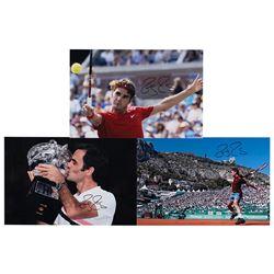 Roger Federer (3) Signed Photographs