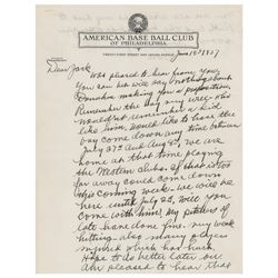 Connie Mack Autograph Letter Signed
