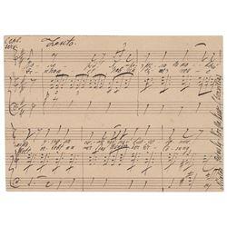 Nikolai Rimsky-Korsakov Autograph Musical Quotation Signed