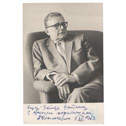 Dmitri Shostakovich Signed Photograph