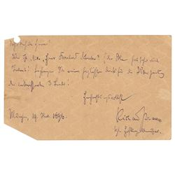 Richard Strauss Autograph Letters Signed