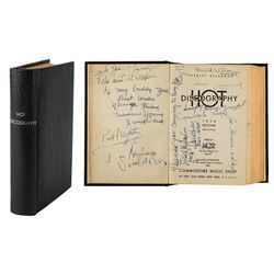Jazz Legends: Hot Discography Multi-Signed Book