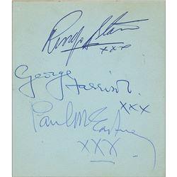 Beatles and Rolling Stones Autograph Album