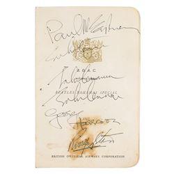 Beatles Signed Menu