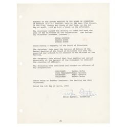 Beatles: Brian Epstein Document Signed