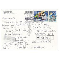 Beatles: Paul McCartney Letter Signed