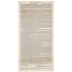 The Doors: Jim Morrison Document Signed