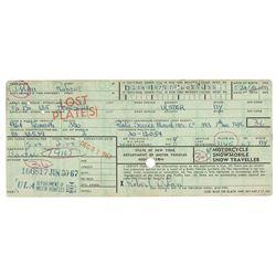 Bob Dylan Document Signed