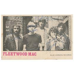 Fleetwood Mac Signed Promo Card