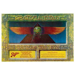 Grateful Dead 1978 Canceled Rainbow Theatre Promoter's Copy Concert Poster