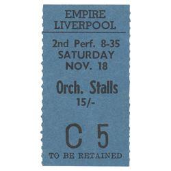 Jimi Hendrix and Pink Floyd 1967 Empire Theatre Ticket Stub and Original Tour Program